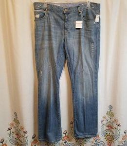 Nwt gap boyfriend deconstructed jeans long